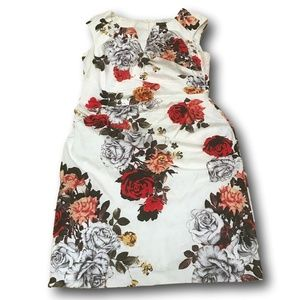 Adrianna Papell Womens Multi Color Floral Lined